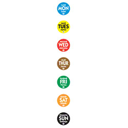 "NCCO .75"" Circle Trilingual Removable Labels"