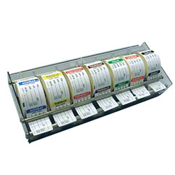 "NCCO Plexiglas Label Dispenser for 2"" Rolls, 7 Day"