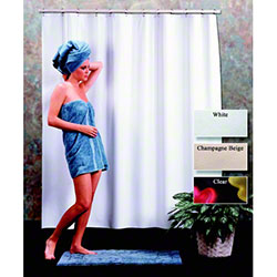Traveler® Heavy Duty Vinyl Shower Curtain - 6 x 6, Beige