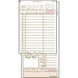 Royal Guest Check Board Carbonless - 2 Part, 15 Lines, Tan
