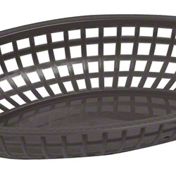 Winco® Premium Oval Fast Food Basket - Black