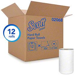 "Scott® Essential Hard Roll Towel - 8"" x 400', White"