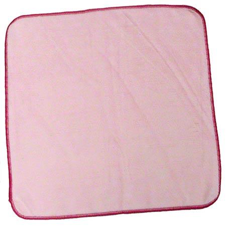 "Microfiber & More 16"" x 16"" 300gsm Microfiber Cloth - Pink"