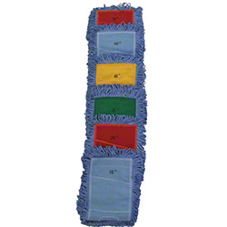 "Microfiber & More Dust Mop - 18"", Blue Pocket Banding"