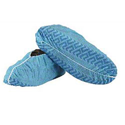 Polypropylene Disposable Blue Shoe Covers - Large