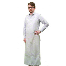 Polyethylene Heavy Weight Apron - 28 x 46, 3 mil, White