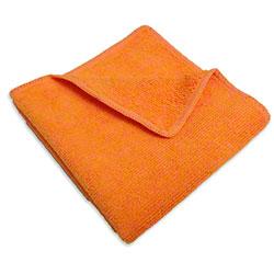 "Microfiber & More 16"" x 16"" Microfiber Cloth - Orange"