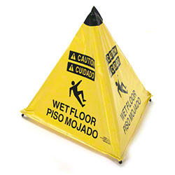 "ARP Safety ""Wet Floor"" Handy Cone HD - 18"", Yellow"