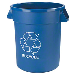 Carlisle Bronco™ Recycling Container - 32 Gal., Blue