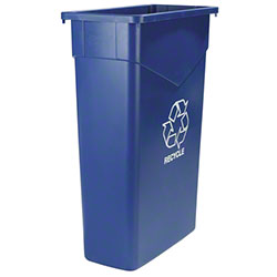Carlisle Trimline™ Recycle Can - 23 Gal., Blue