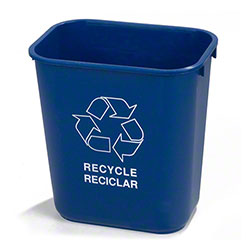 Carlisle 28 Qt. Recycle Wastebasket - Blue