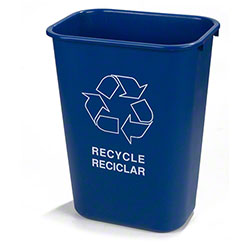 Carlisle 41 1/4 Qt. Recycle Wastebasket - Blue