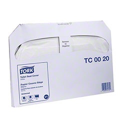 Tork® Universal Quality 1/2 Fold Toilet Seat Cover - White