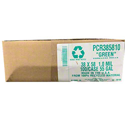 Green-Gray Trash Liners - 38 x 58, 1.0 mil