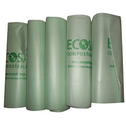 Compostable Liner - 33 x 48, .85 mil, Green