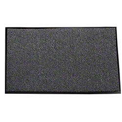 Crown Sani-Walk™ Indoor/Wiper/Light Traffic Mat - 3' x 5', Charcoal