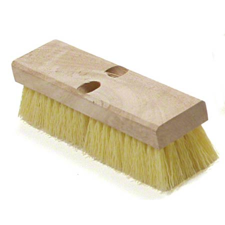 Malish Yellow Crimped Poly Deck Scrub - 10""