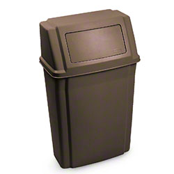 Rubbermaid® Slim Jim® Wall Mounted Container - Brown