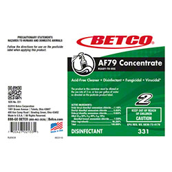 Betco® AF79 Concentrate Non Acid Cleaner Label Only