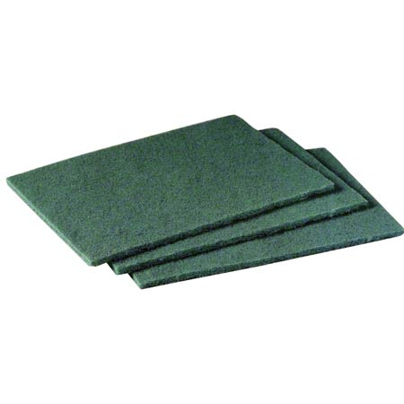 "SSS® Medium Duty Scouring Pad #96 - 6"" x 9"", Green"