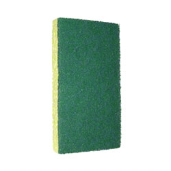 "SSS® #74 Green Medium Pad/Yellow Sponge-3.18""x6.25"" x .88"""