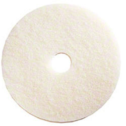 SSS® White Polishing Floor Pad - 17""