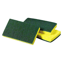 SSS® Medium Duty Green/Yellow Scrubbing Sponge #74