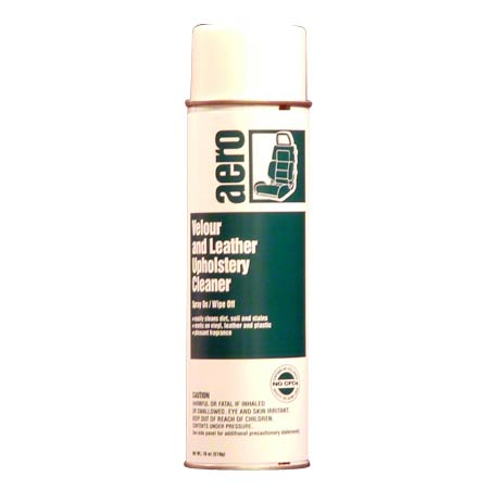 VELOUR/LEATHER UPHOLSTERY CLNR AEROSOL 18 OZ