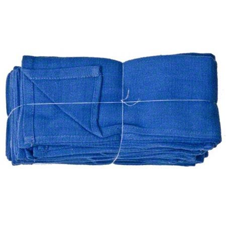 RAG LINT FREE BLUE HUCK 100% COTTON 10LB