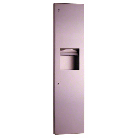 DISP TOWEL C/M FOLD WALL MOUNT RECESSED W/TRASH CAN