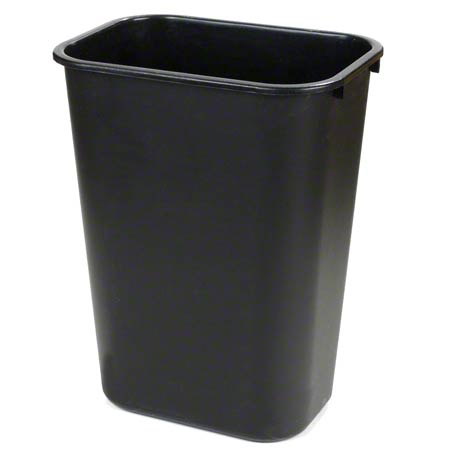 TRASH CAN 28 QT PLASTIC BLACK