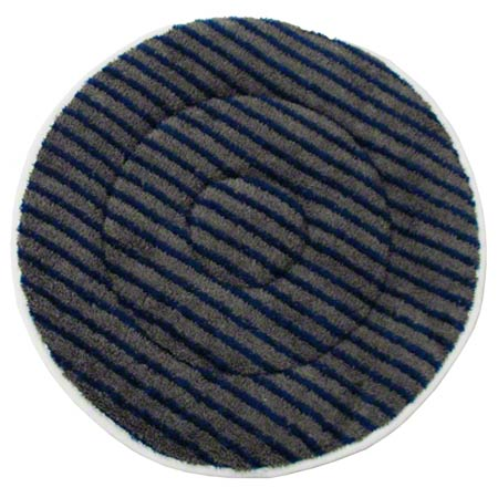 BONNET MICROFIBER 17IN GRAY W/BLUE SCRUB STRIP