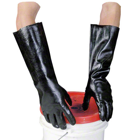 GLOVES PVC BLACK EXTRA LARGE PAIR