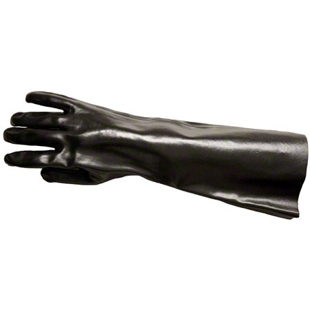 GLOVES PVC BLACK LARGE PAIR