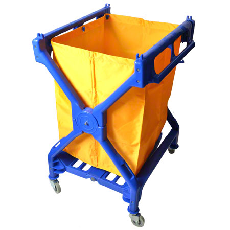 CART X FOLDING PLASTIC BLUE WITH BAG