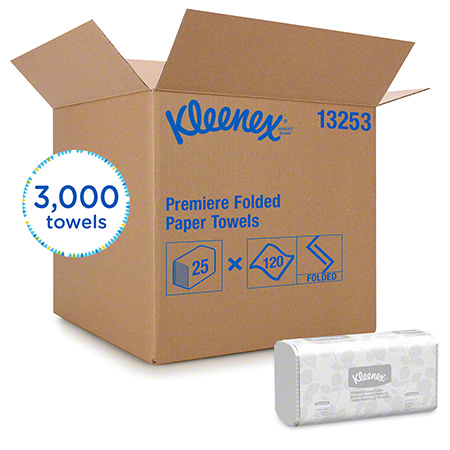 "TOWELS KLEENEX SCOTTFOLD 7.8""X12.4"" 120/25"