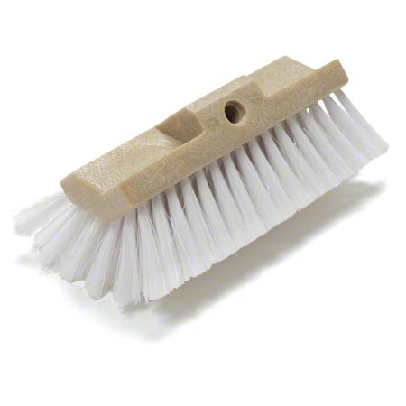 BRUSH 10IN MULTILVEL SCRUB SOFT WHITE W/O HANDLE