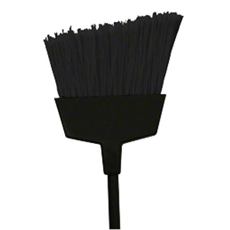 BROOM PLASTIC ANGLE CUT LARGE W/FLAGGED BRSTL BLK METAL HNDL