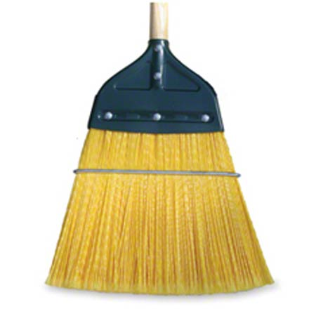 BROOM MAXIROUGH POLYPRO BRISTLE W/WOOD HANDLE