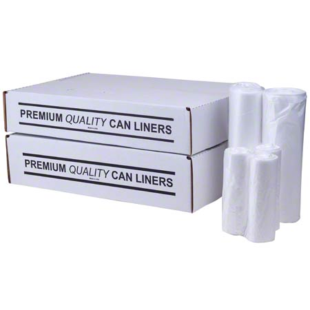 LINERS 07/10 GAL LIGHT 24 X 24 .6 MIC 1000HD CLEAR