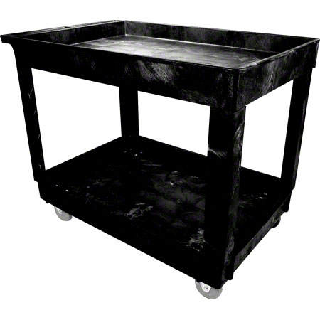 CART UTILITY 40 X 24 2 SHELF 300 LB CAPACITY BLACK