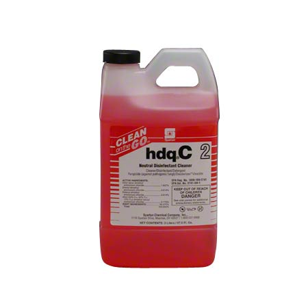 CLEAN ON THE GO HDQC 2 QUAT NEUTRAL CLNR CONC 2 LITER