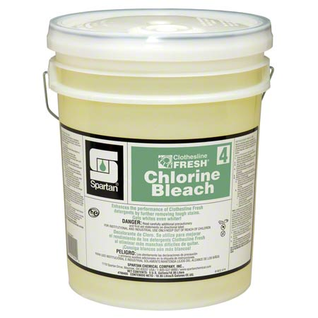 CLOTHESLINE  FRESH 4 SPARTAN LAUNDRY BLEACH 5 GAL