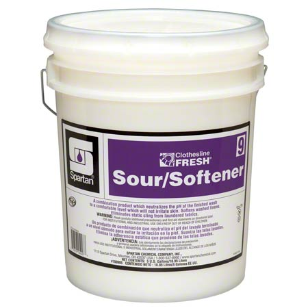 CLOTHESLINE FRESH 9 SPARTAN LAUNDRY SOUR/SOFTENER 5 GAL