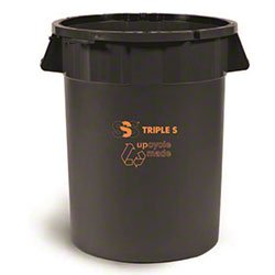 SSS® EarthCare® PCR Utility Can - 44 Gal., Black
