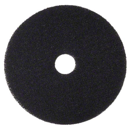 "3M720015-N 15"" BLACK FLOOR PADS (STRIPPING) 5/CS"