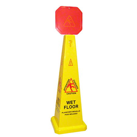 "1246CWF 46"" CONE, WET FLOOR SIGN YELLOW"