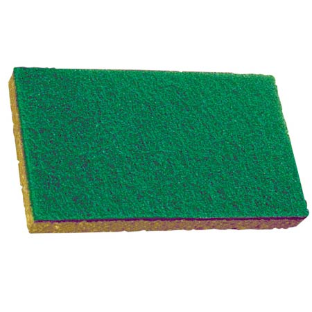 74C YELLOW AND GREEN SCRUBBING SPONGES 5/PKG