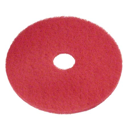 NIAGARA F-5100 14″ RED BUFFING FLOOR PADS 5/CS