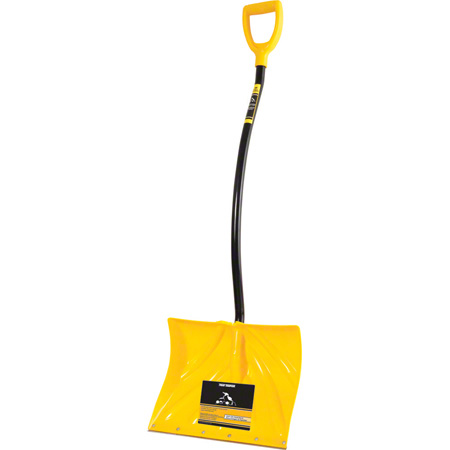 "310BSVKD 19 1/2"" PLASTIC SNOW SHOVEL 42"" BENT STEEL HANDLE"